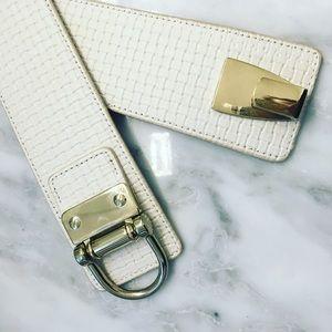Faux Leather Clasp Wrap Belt